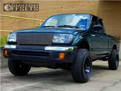 1999 Toyota Tacoma - 15x8 -25mm - Tuff T15 - Stock Suspension - 235/75R15