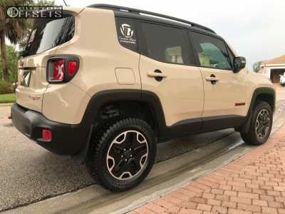"""2016 Jeep Renegade - 17x7 40mm - Spaced Out Stockers Spaced Out Stockers - Suspension Lift 2.5"""" - 31"""" x 8.5"""""""