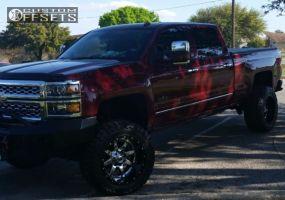 "2014 Chevrolet Silverado 2500 - 20x12 -44mm - Fuel Maverick - Suspension Lift 7"" - 35"" x 12.5"""