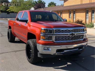 "2015 Chevrolet Silverado 1500 - 20x12 -44mm - Hostile Rage - Suspension Lift 4"" - 33"" x 12.5"""