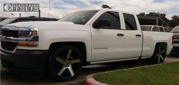 2018 Chevrolet Silverado 1500 - 22x9.5 30mm - Milanni Switchback - Lowered 4F / 6R - 265/35R22