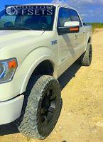 """2013 Ford F-150 - 20x9 -12mm - XD Rockstar Ii - Suspension Lift 6"""" - 35"""" x 12.5"""""""
