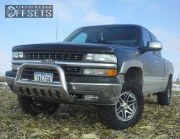 "2002 Chevrolet Silverado 1500 - 16x8.5 0mm - American Racing Mainline - Suspension Lift 3"" - 33"" x 12.5"""