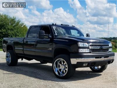 2005 Chevrolet Silverado 3500 - 22x12 -44mm - Gear Off-Road Big Block - Stock Suspension - 305/45R22