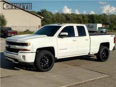 2018 Chevrolet Silverado 1500 - 20x10 -18mm - Fuel Sledge - Stock Suspension - 275/55R20