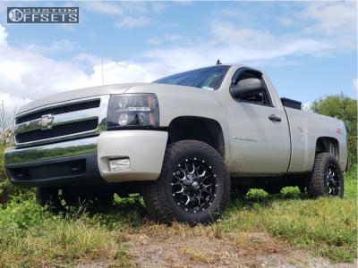 """2007 Chevrolet Silverado 1500 - 18x9 -12mm - Mayhem Warrior - Suspension Lift 3.5"""" - 305/65R18"""