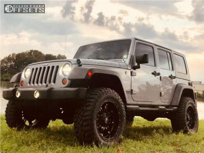 "2014 Jeep Wrangler - 20x9 0mm - Fuel Hostage - Suspension Lift 3.5"" - 35"" x 12.5"""