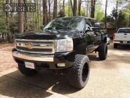 "2007 Chevrolet Silverado 1500 - 22x12 -44mm - Gear Off-Road Big Block - Suspension Lift 7.5"" - 37"" x 13.5"""