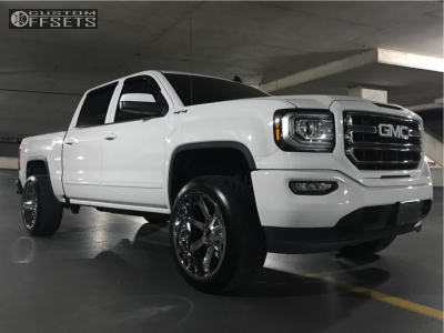2017 GMC Sierra 1500 - 22x12 -44mm - Cali Offroad Busted - Leveling Kit - 305/45R22