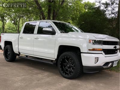 2018 Chevrolet Silverado 1500 - 20x10 -24mm - Fuel Maverick D538 - Leveling Kit - 275/55R20