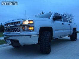 "2014 Chevrolet Silverado 1500 - 20x10 -25mm - Vision ARC - Leveling Kit - 33"" x 12.5"""