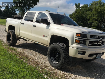 "2015 Chevrolet Silverado 1500 - 20x12 -44mm - Hardrock Crusher H704 - Suspension Lift 7.5"" - 35"" x 13.5"""