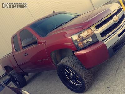 "2009 Chevrolet Silverado 1500 - 22x10 -18mm - Fuel Titan - Suspension Lift 4"" - 33"" x 12.5"""