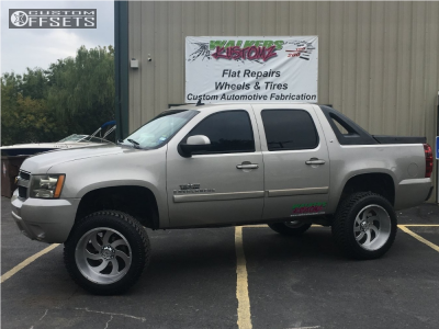 """2008 Chevrolet Avalanche - 22x12 -44mm - Xtreme Force Xf1 - Suspension Lift 7.5"""" - 325/50R22"""