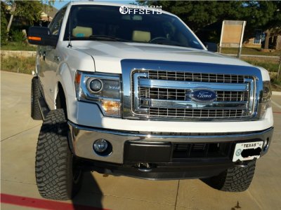 "2014 Ford F-150 - 20x10 -18mm - Fuel Sledge - Suspension Lift 6"" - 35"" x 12.5"""