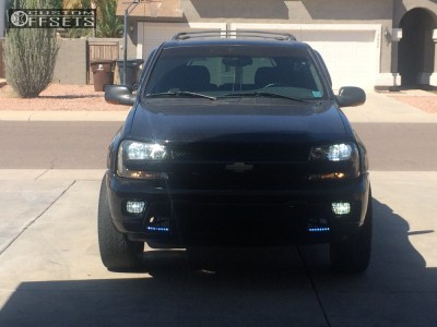 """2003 Chevrolet Trailblazer - 17x7 50mm - Spaced Out Stockers Spaced Out Stockers - Suspension Lift 3"""" - 245/65R17"""