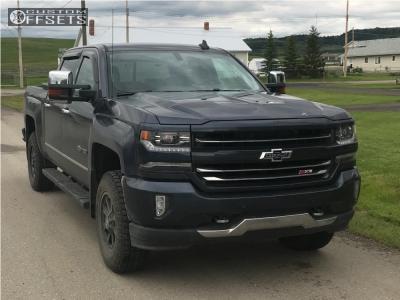"2018 Chevrolet Silverado 1500 - 18x9 18mm - Moto Metal Mo984 - Suspension Lift 3.5"" - 275/70R18"