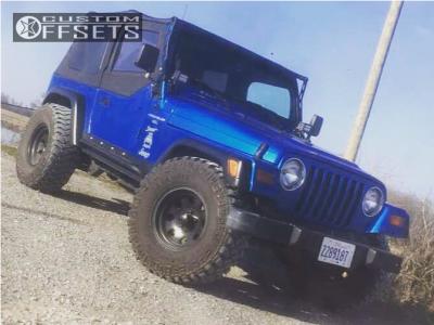 """1999 Jeep TJ - 15x10 -45mm - Mickey Thompson Classic Iii - Stock Suspension - 33"""" x 12.5"""""""