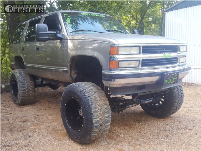 "1999 Chevrolet Tahoe - 20x14 -76mm - Scorpion Sc17 - Suspension Lift 7.5"" & Body 3"" - 38"" x 15.5"""
