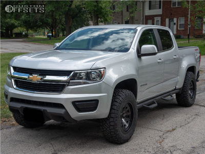 2016 Chevrolet Colorado - 17x9 -6mm - Mayhem Flat Iron - Leveling Kit - 265/70R17
