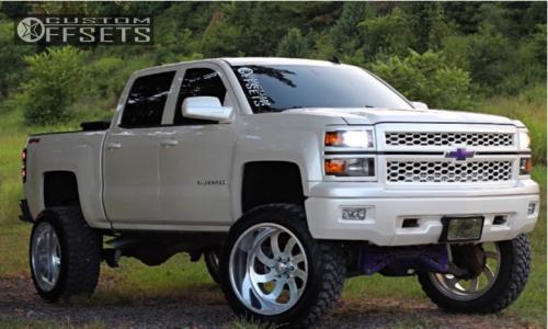 "2014 Chevrolet Silverado 1500 - 24x14 -73mm - American Force Blade Ss - Suspension Lift 8"" - 37"" x 14"""