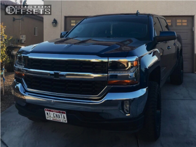 "2016 Chevrolet Silverado 1500 - 20x10 -24mm - XD Xd825 - Leveling Kit - 33"" x 12.5"""