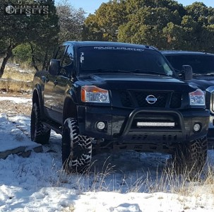 "2012 Nissan Titan - 22x11 -24mm - Fuel Hostage - Suspension Lift 6"" - 35"" x 12.5"""