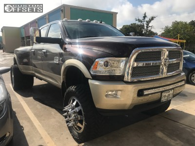 """2015 Ram 3500 - 22x8.25 169mm - American Force Independence Ss - Suspension Lift 6"""" - 37"""" x 13.5"""""""