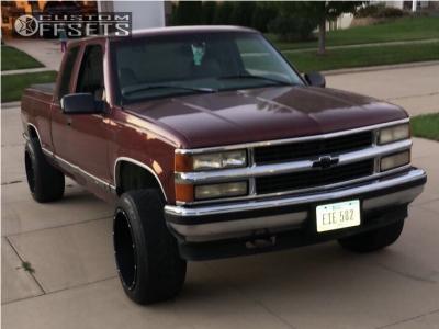 1998 Chevrolet K1500 - 20x12 -51mm - Vision Rocker - Stock Suspension - 265/50R20