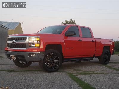 2014 Chevrolet Silverado 1500 - 20x9 1mm - Fuel Maverick - Leveling Kit - 275/55R20