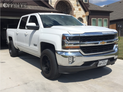 2018 Chevrolet Silverado 1500 - 20x10 -24mm - Fuel Nutz - Leveling Kit - 275/55R20
