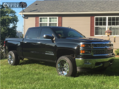2015 Chevrolet Silverado 1500 - 20x12 -51mm - Vision Rocker - Leveling Kit - 285/50R20