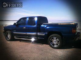 2000 Chevrolet Silverado 1500 - 20x9 -12mm - American Eagle 79 - Stock Suspension - 275/55R20