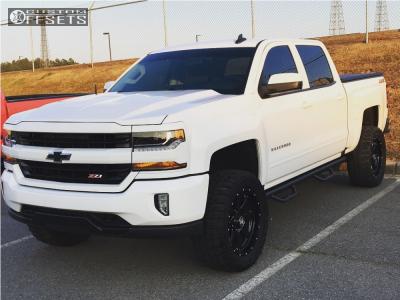 "2016 Chevrolet Silverado 1500 - 20x9 0mm - Hostile Alpha - Suspension Lift 4"" - 33"" x 12.5"""