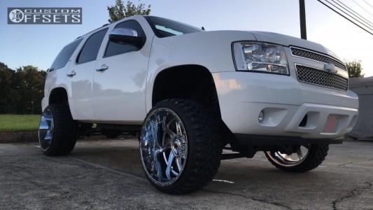 """2008 Chevrolet Tahoe - 24x14 -76mm - American Truxx Vortex - Suspension Lift 7"""" - 33"""" x 12.5"""""""