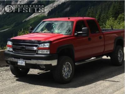 """2006 Chevrolet Silverado 3500 Classic - 18x9 -12mm - XD Badlands - Suspension Lift 3"""" - 305/65R18"""