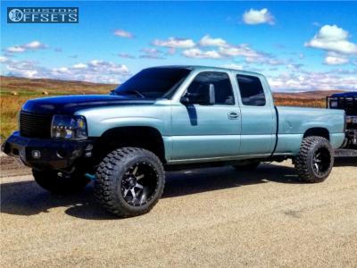 """2002 Chevrolet Silverado 1500 - 20x14 -76mm - Fuel Maverick D610 - Lifted >9"""" - 35"""" x 12.5"""""""
