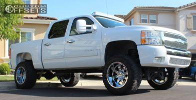 "2008 Chevrolet Silverado 1500 - 20x12 -44mm - Gear Off-Road Big Block - Suspension Lift 6"" - 35"" x 12.5"""