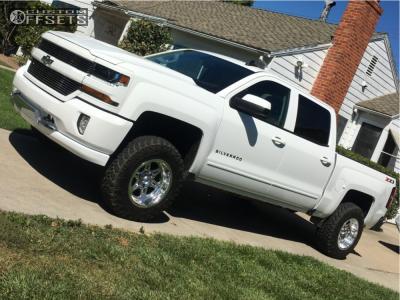 2018 Chevrolet Silverado 1500 - 17x10 -25mm - Weld Racing Cheyenne - Leveling Kit - 265/70R17