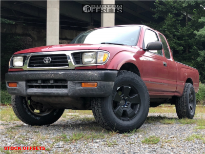 1997 Toyota Tacoma - 17x7 15mm - Spaced Out Stockers Spaced Out Stockers - Stock Suspension - 285/70R17