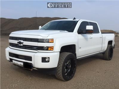 "2015 Chevrolet Silverado 3500 HD - 22x10.5 -25mm - Sota Novakane - Level 2"" Drop Rear - 305/45R22"