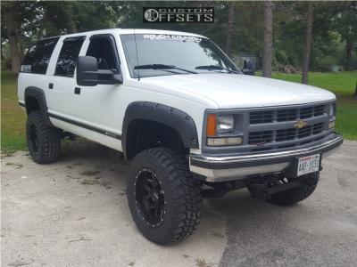 "1995 Chevrolet K1500 Suburban - 20x10 -25mm - Ultra Warlock - Suspension Lift 6"" - 35"" x 12.5"""