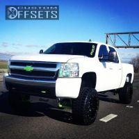 """2008 Chevrolet Silverado 1500 - 20x12 -44mm - Fuel Nutz - Suspension Lift 6"""" - 295/55R20"""