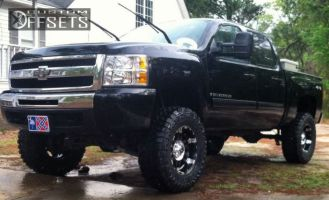 "2009 Chevrolet Silverado 1500 - 18x10 -24mm - XD Spy - Suspension Lift 7.5"" - 35"" x 12.5"""