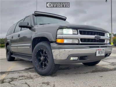 2001 Chevrolet Suburban 1500 - 17x9 0mm - Raceline Assault - Stock Suspension - 265/70R17