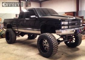"1998 Chevrolet K1500 - 24x14 -75mm - Fuel Maverick - Lifted >9"" - 40"" x 15.5"""