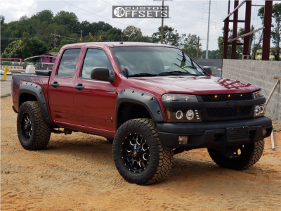 """2006 Chevrolet Colorado - 18x9 -12mm - Mayhem Warrior - Leveling Kit - 33"""" x 12.5"""""""