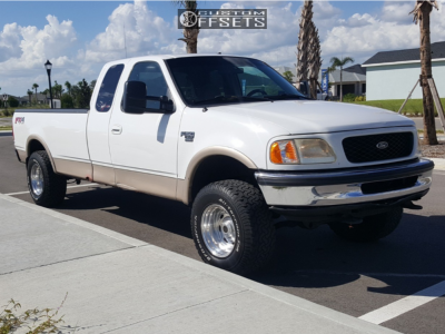 """1998 Ford F-150 - 16.5x10 -25mm - Weld Racing Cyclone - Leveling Kit - 33"""" x 12.5"""""""