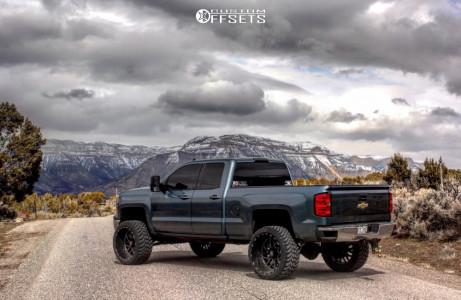 "2014 Chevrolet Silverado 1500 - 24x14 -76mm - TIS 544bm - Suspension Lift 6"" - 35"" x 13.5"""