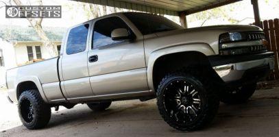 2000 Chevrolet Silverado 2500 - 20x12 -44mm - TIS 535MB - Leveling Kit - 295/55R20